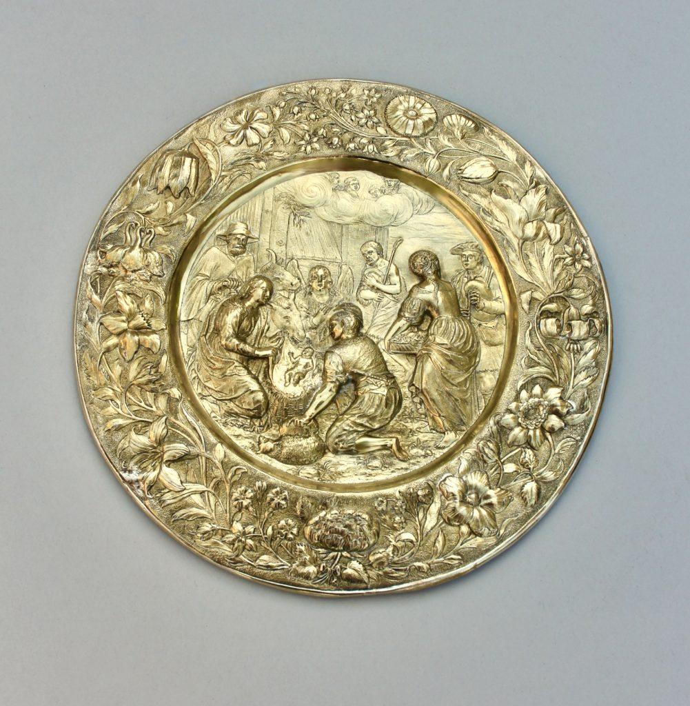 SCHAUPLATTE ANBETUNG DER HIRTEN Jeremias Ritter (1582 – 1646), Kunsthandel Mühlbauer