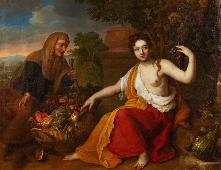 Hendrick Schook und Gerard Hoet, Allegorie des Herbstes, Kunsthandel Mühlbauer