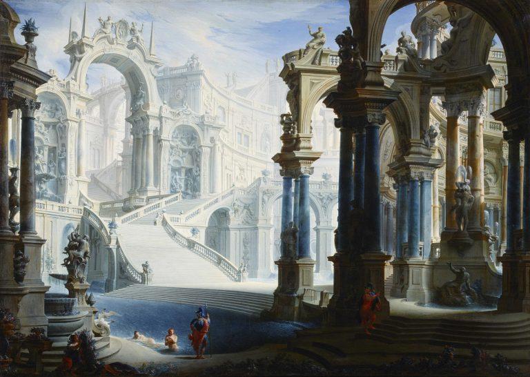 Stefano Orlandi, Die kaiserlichen Thermen – Atrium und Treppe, Kunsthandel Mühlbauerd