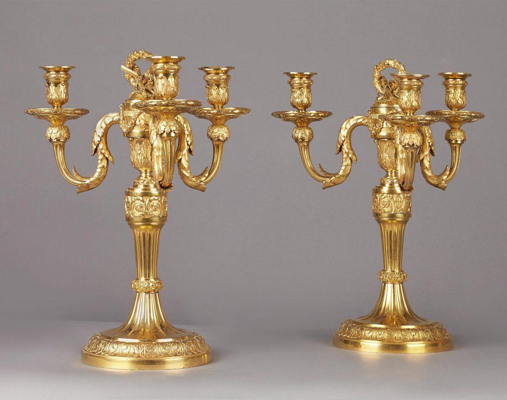Ignatz Joseph Würth, Paar Louis XVI Kandelaber, Kunsthandel Mühlbauer