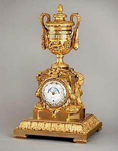 Astronomische Louis-XVI Vasen-Pendule, Kunsthandel Mühlbauer