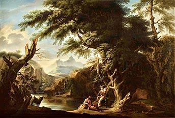 Jacob Philipp Hackert, Arkardische Landschaft, Kunsthandel Mühlbauer