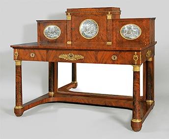 Johannes Klinckerfuß, wiederentdeckter königlicher Schreibtisch, Kunsthandel Mühlbauer