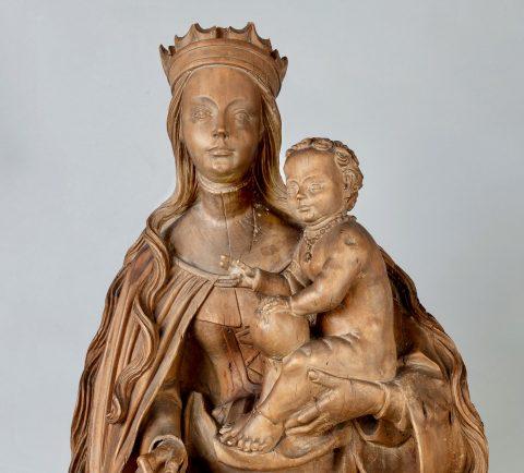Mondsichel-Madonna, Detail Gesichter, Kunsthandel Mühlbauer