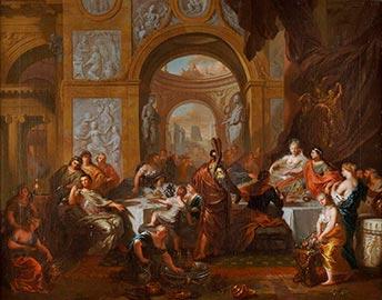 Ottmar Elliger d.J., das Festmahl der Kleopatra, Kunsthandel Mühlbauer