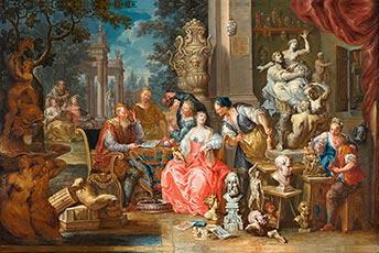 Johann Georg Platzer, im Atelier des Bildhauers, Kunsthandel Mühlbauer