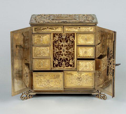 Renaissance Juwelen-Kabinettschränkchen, geöffnet, Kunsthandel Mühlbauer