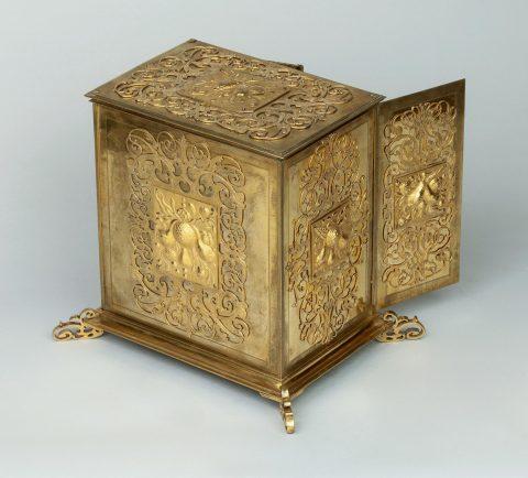 Renaissance Juwelen-Kabinettschränkchen, Rückseite, Kunsthandel Mühlbauer
