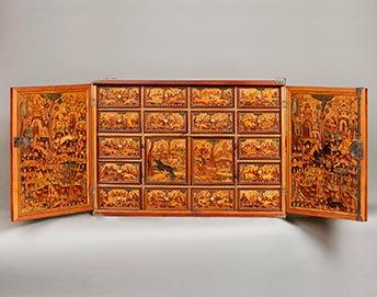 Renaissance-Kabinett mit Jagddarstellung, Kunsthandel Mühlbauer